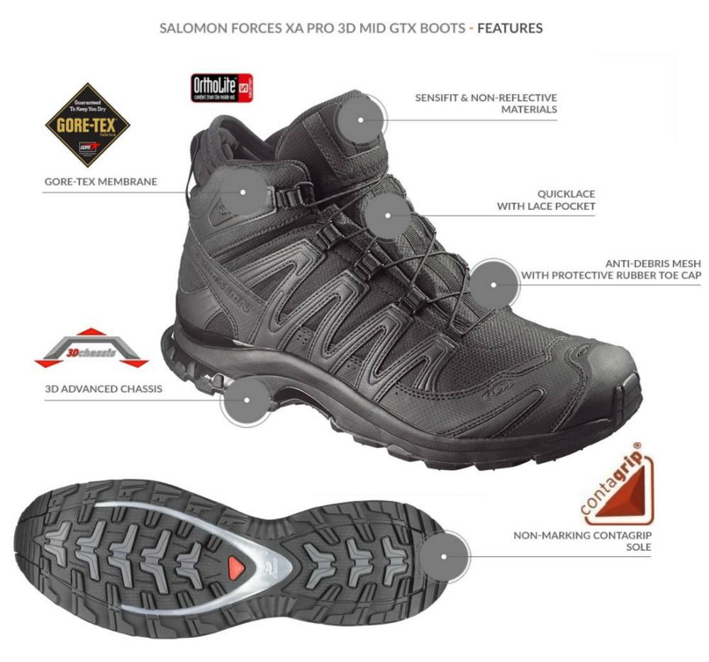 5b1e3185a486 Salomon. XA Pro 3D MID GTX Forces